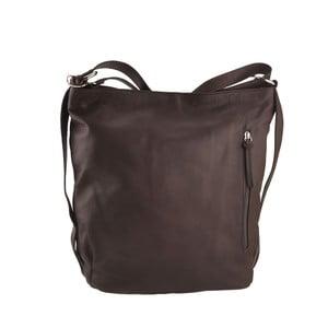 Kožená kabelka Dattero, tm. hnedá