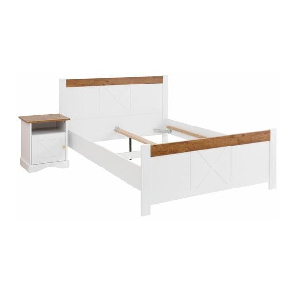 Biela dvojlôžková posteľ Støraa Aldo, 180×200 cm