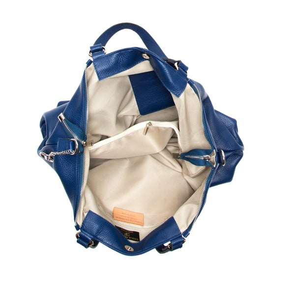 Kožená kabelka Fiora, modrá
