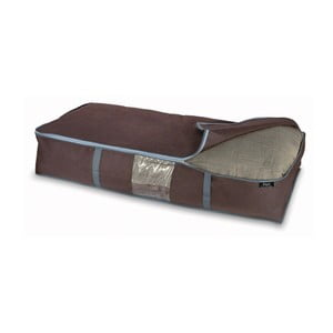 Hnedý úložný box na paplóny Domopak Living, 18x45cm