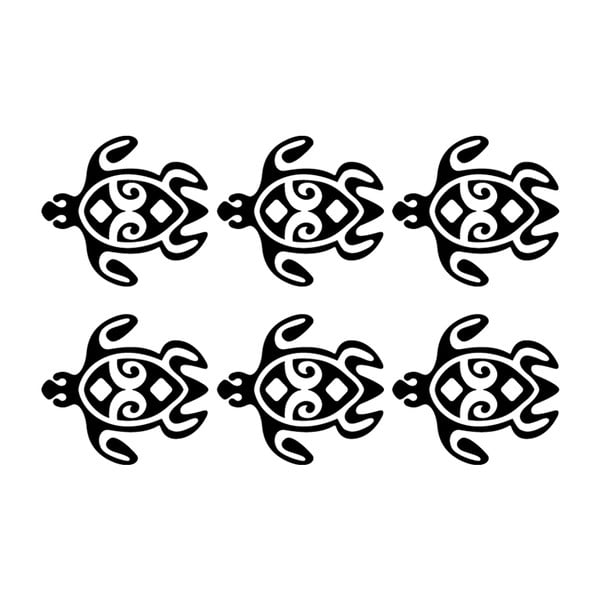 Sada 6 samolepiek Ambiance Turtles Chain