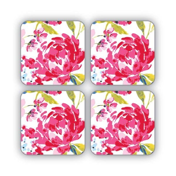 Sada 4 podložiek Floral Romance