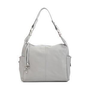 Svetlosivá kožená kabelka Mangotti Bags Claudia