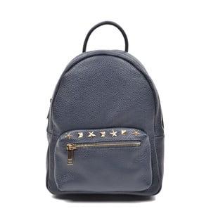 Tmavo modrý kožený batoh Mangotti Rabia