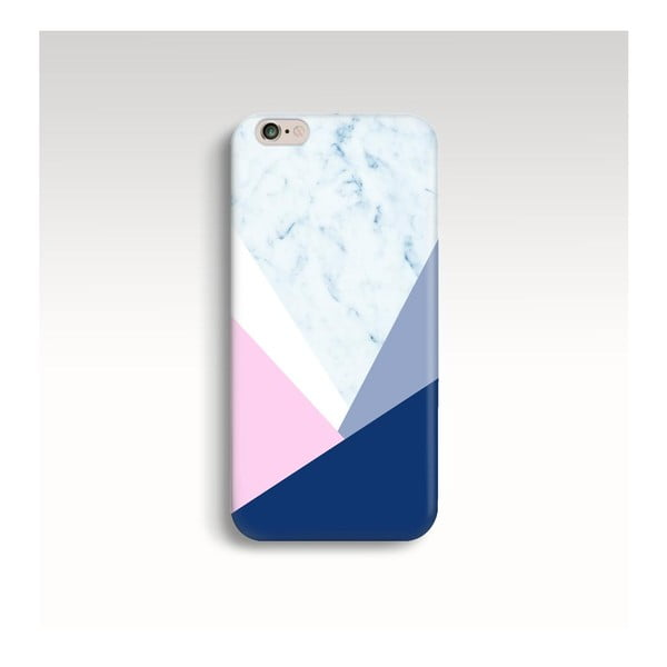 Obal na telefón Marble Navy Triangle pre iPhone 6/6S