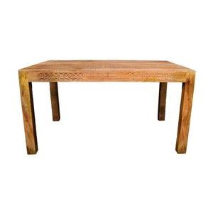 Jedálenský stôl z masívneho mangového dreva Massive Home Ella, 90 x 200 cm