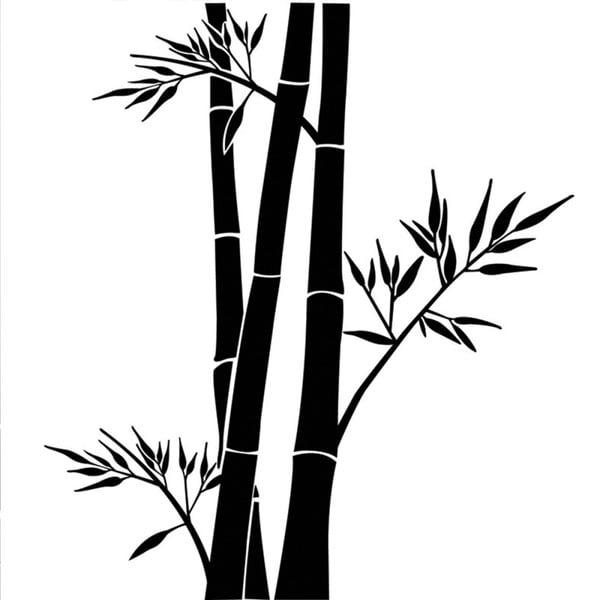Samolepka Ambiance Bamboo Flowers
