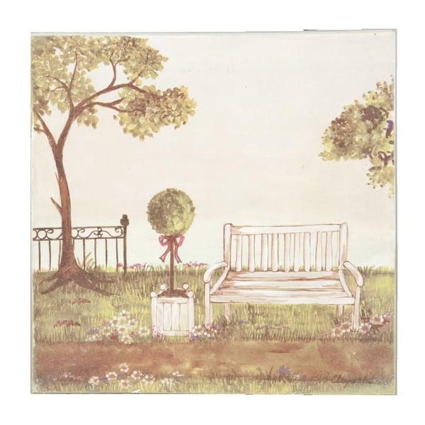 Obraz s lavičkou Bench, 25x25 cm