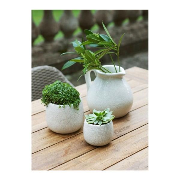 Biely kvetináč Garden Trading Ravello, ⌀ 15,5 cm