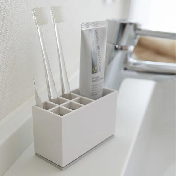 Biely stojan na zubné kefky YAMAZAKI Mist