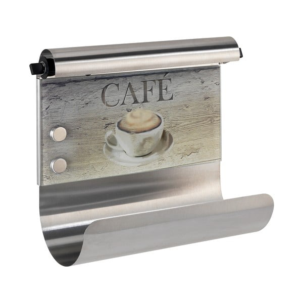 Držiak na utierky s dávkovačom fólie Wenko Café