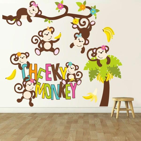 Samolepka na stenu Cheeky monkey