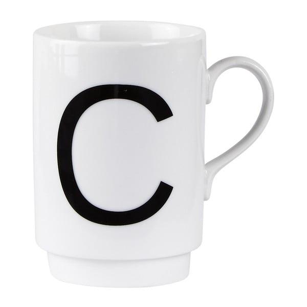 Porcelánový písmenkový hrnček C
