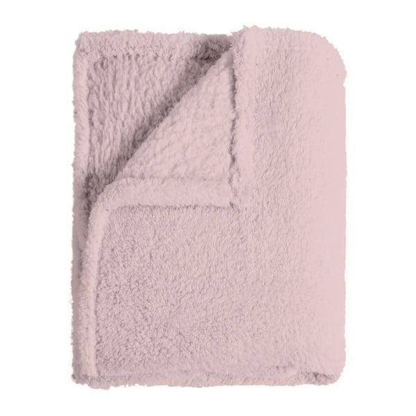 Ružový pléd Home Collection Sherpa, 130x170cm