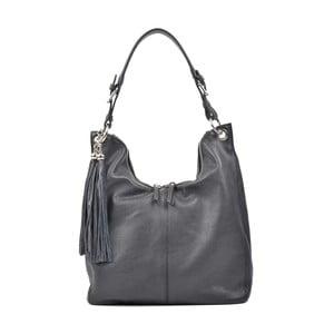 Čierna kožená kabelka Carla Ferreri Berthany