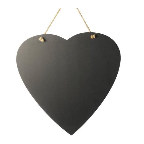 Závesná tabuľa Black Heart