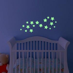 Svietiaca samolepka Fanastick Simple Stars