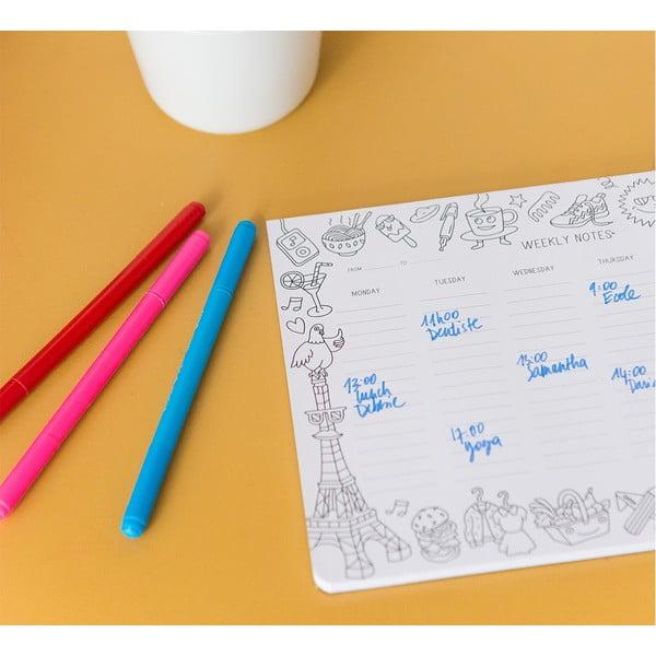 Týždenný stolový plánovač OMY Coloring