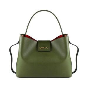 Zelená kožená kabelka Lampoo Tandora