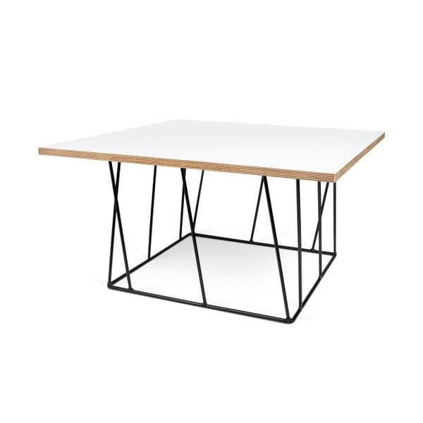 Biely konferenčný stolík s čiernymi nohami TemaHome Helix,75cm
