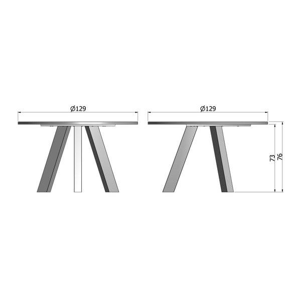 Jedálenský stôl z bieleného dubového dreva WOOOD Rhonda, Ø 129cm