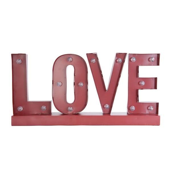 Svietiaci LED nápis Clayre & Eef Love, 60cm