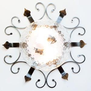 Kovové stropné svietidlo Cruccolini Elite, Ø 58 cm