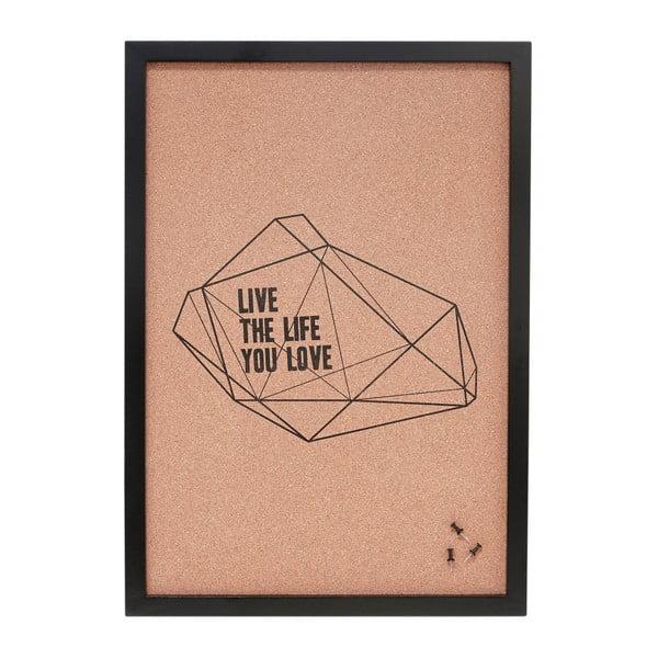 Korková nástenka Hübsch Live The Life You Love