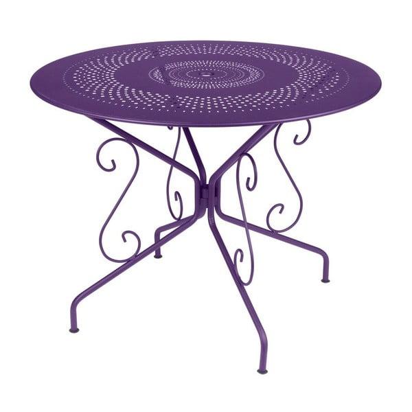 Fialový kovový stôl Fermob Montmartre, Ø96cm