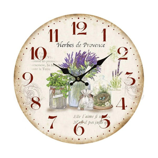 Nástenné hodiny Bolzonella Lavanda