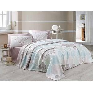 Prikrývka cez posteľ s plachtou a obliečkou na vankúš Andalucia, 160x230cm