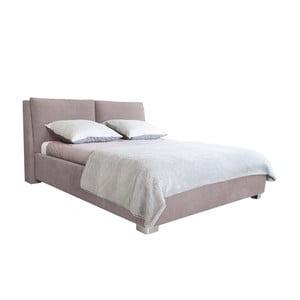 Svetloružová dvojlôžková posteľ Mazzini Beds Vicky, 140×200cm