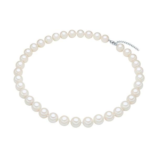 Perlový náhrdelník Muschel, biele perly 12 mm, dĺžka 50 cm