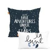 Sada 2 bavlnených obliečok na vankúš Blanc Constellation, 50×50cm