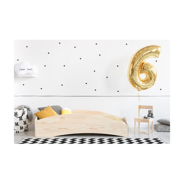 Detská posteľ z borovicového dreva Adeko BOX 6, 100×180 cm
