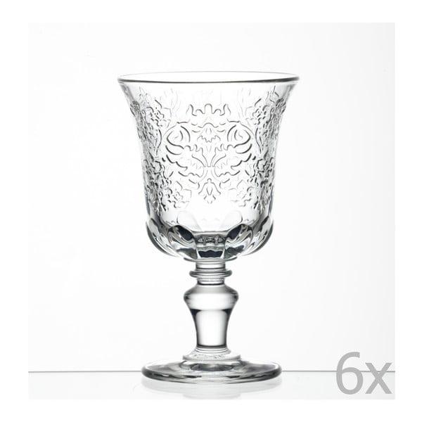 Sada 6 pohárov na víno Amboise, 260 ml