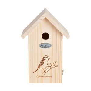 Drevená vtáčia búdka so sýkorkou Esschert Design, výška 27,3 cm