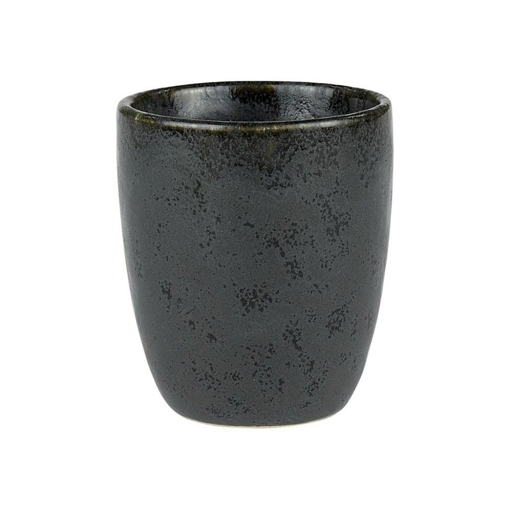 Čierny kameninový hrnček bez ucha na espresso Bitz Mensa