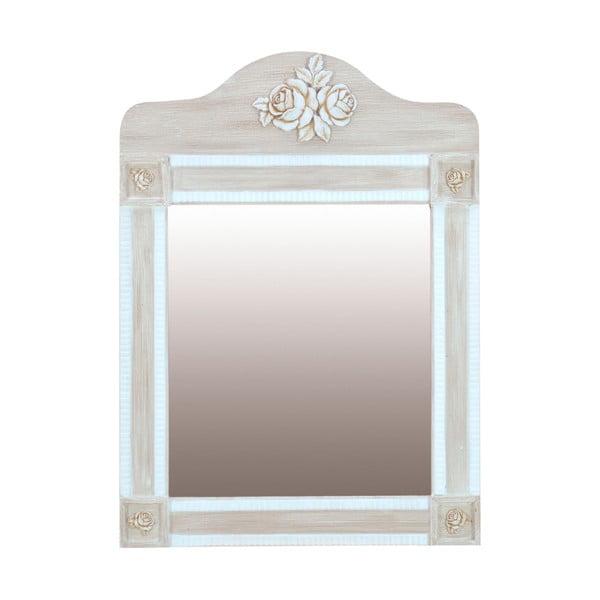 Nastenné zrkadlo Wooden Beige, 56x77 cm