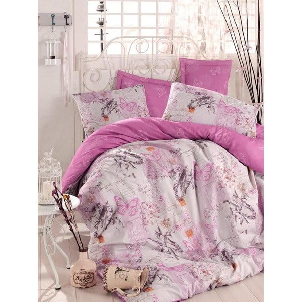 Fialová prikrývka na posteľ Love Colors Helen, 200 x 240 cm