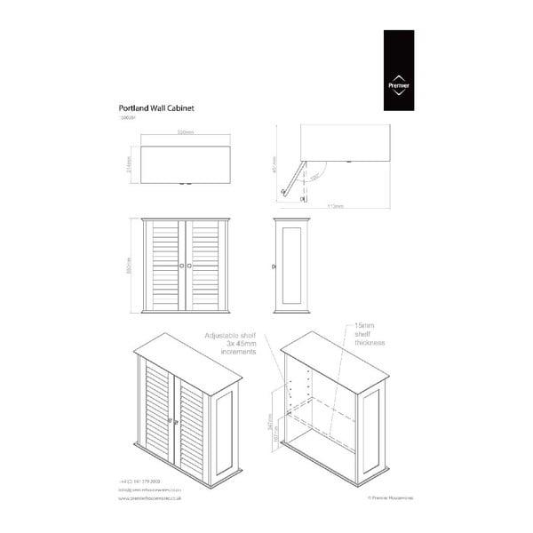 Nástenná skrinka Premier Housewares Frame