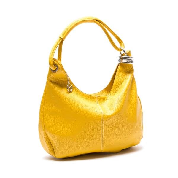 Kožená kabelka Hobo, žltá