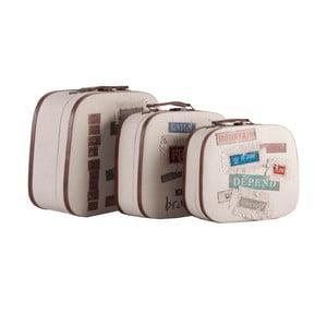 Sada 3 kufríkov Last Deco