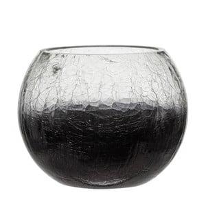 Svietnik Ball Crackle Purple, 15x12 cm