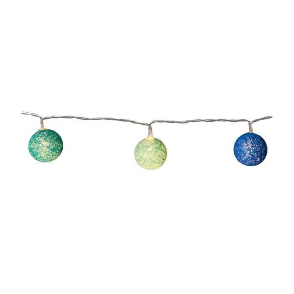 Modro-zelená svetelná LED reťaz Best Season Crystal, 10svetielok