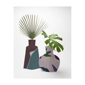 Sada 2 kvetináčov Surdic Flower Vases Lilac Color Blocks