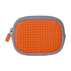 Pixelové univerzálne puzdro, grey/aqua orange