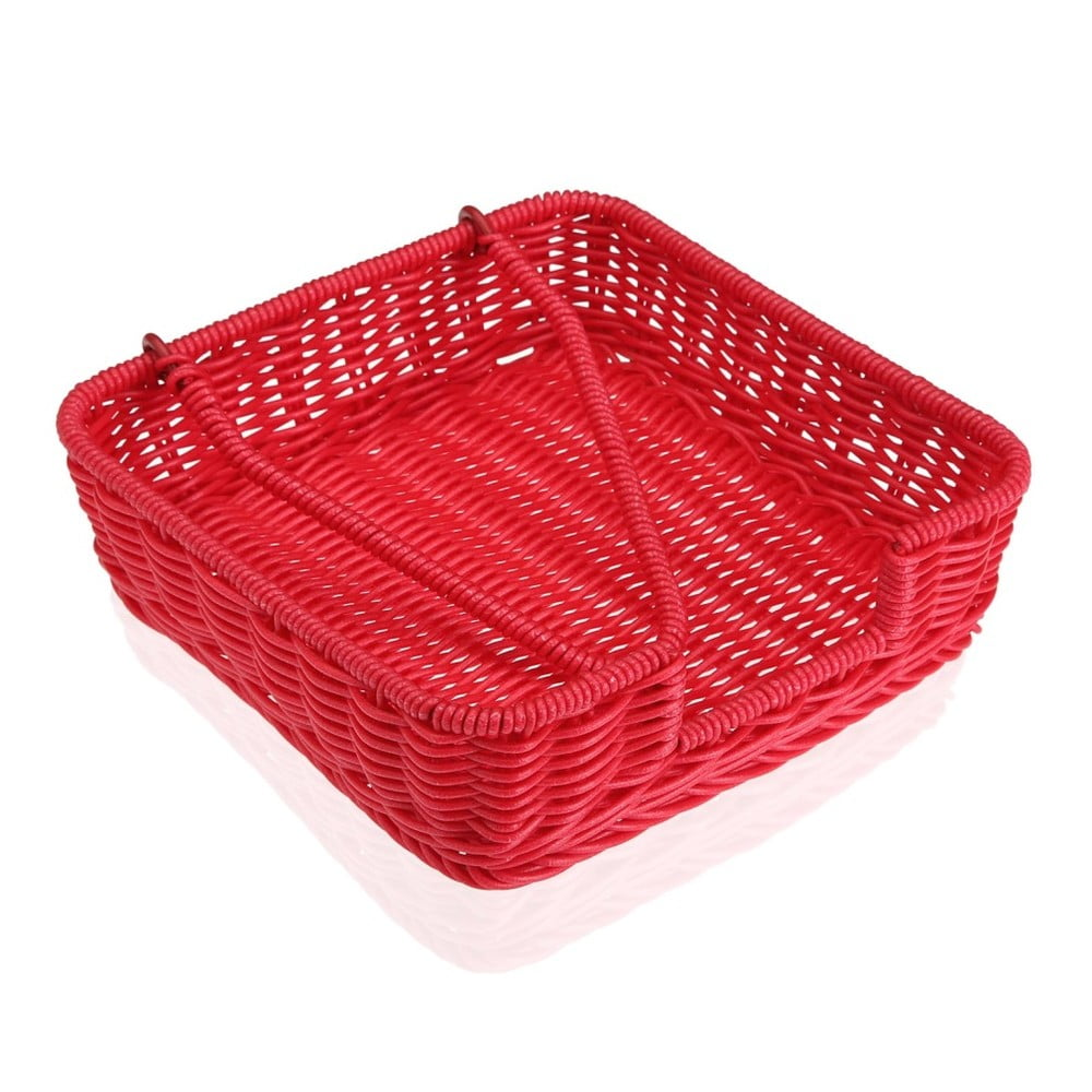 Červený košík na papierové obrúsky Versa Wonda, 20 × 20 cm