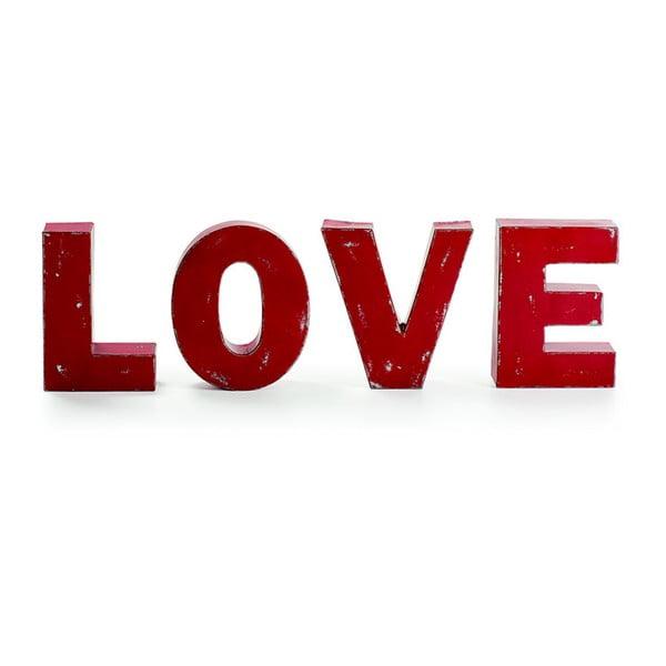 Sada štyroch dekoratívnych písmen Love
