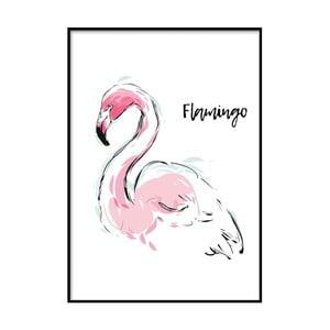 Plagát DecoKing Flamingo Aquarelle, 100 x 70 cm